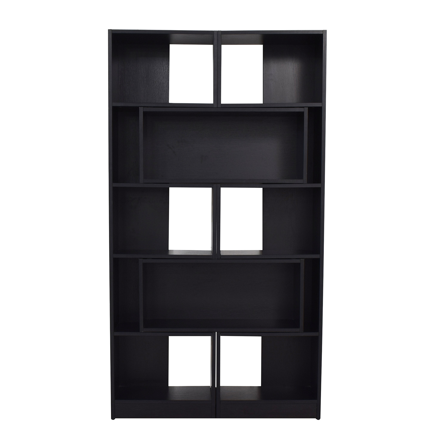 Crate & Barrel Puzzle Black Extendable Bookcase / Bookcases & Shelving
