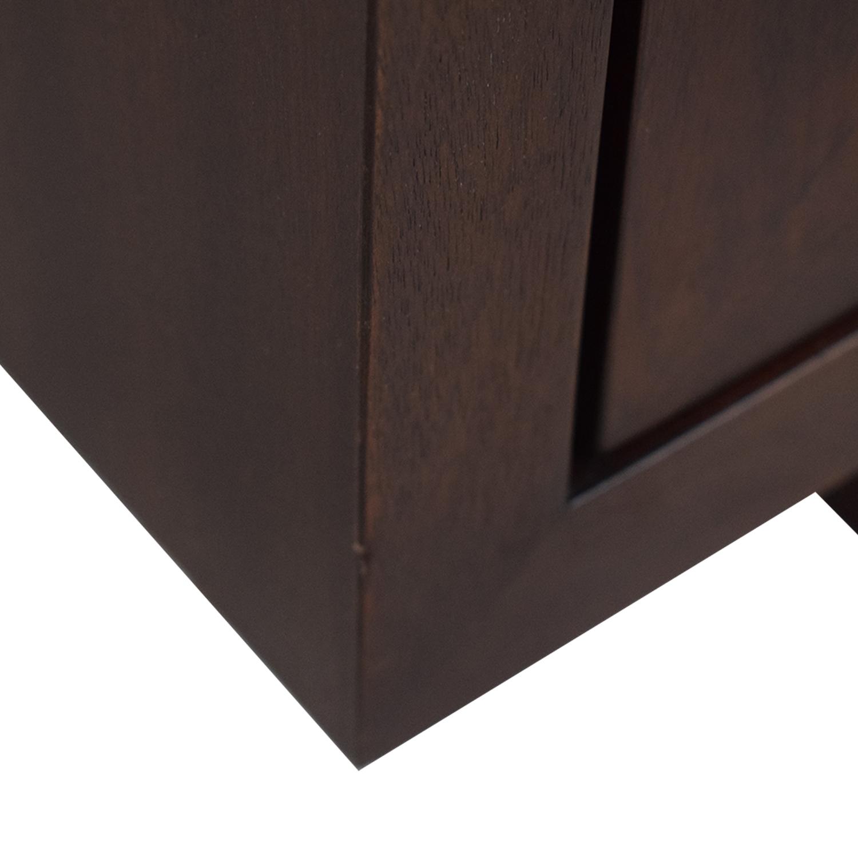 Crate & Barrel Crate & Barrel Media Center Storage Cabinet dark brown