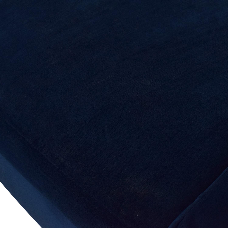 Custom Velvet Navy Chaise Sectional