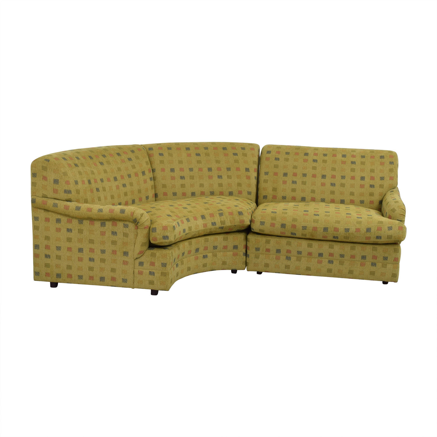 Mason Art Mason Art Mustard Custom Curved Sofa nyc