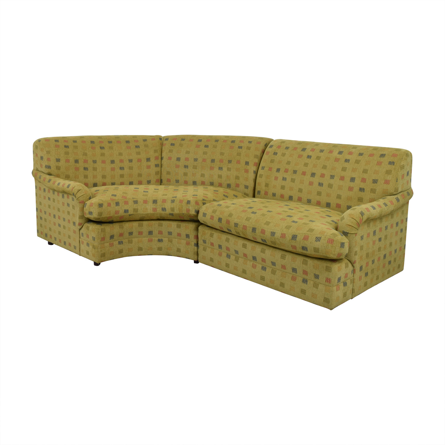 Mason Art Mason Art Mustard Custom Curved Sofa for sale