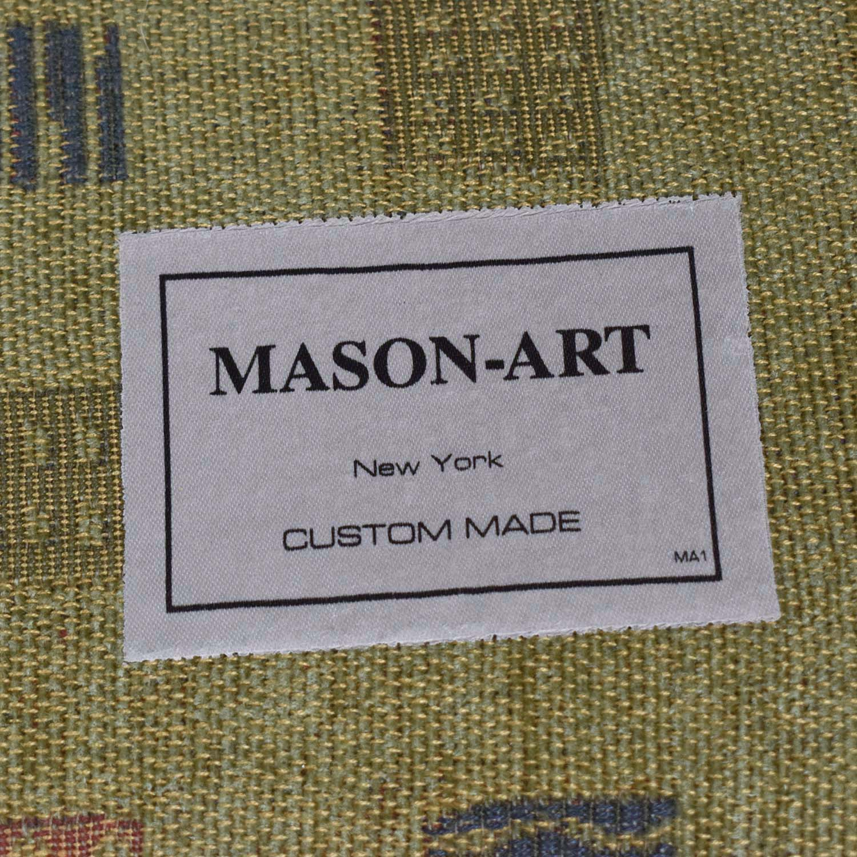 Mason Art Mason Art Mustard Custom Curved Sofa discount