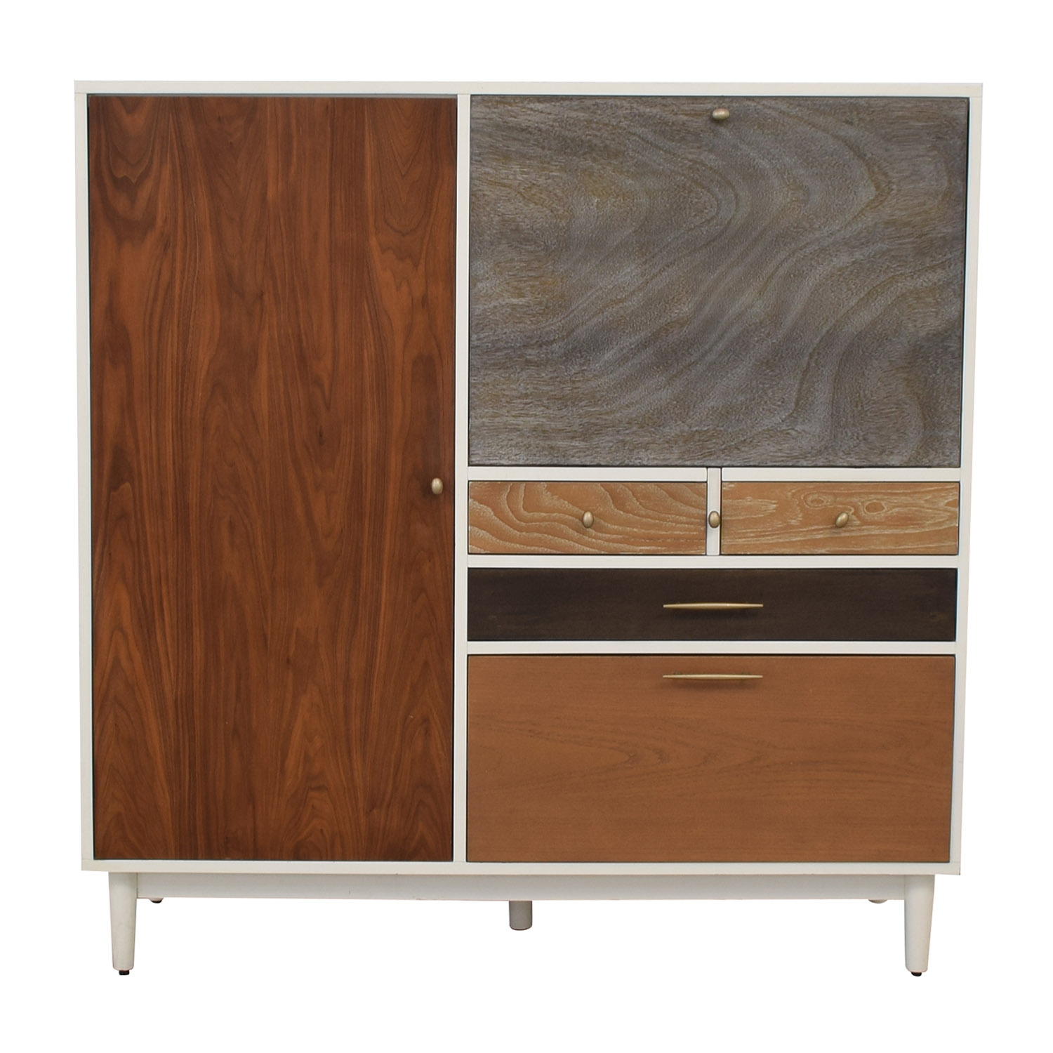 West Elm West Elm Patchwork Three-Drawer Secretary Desk