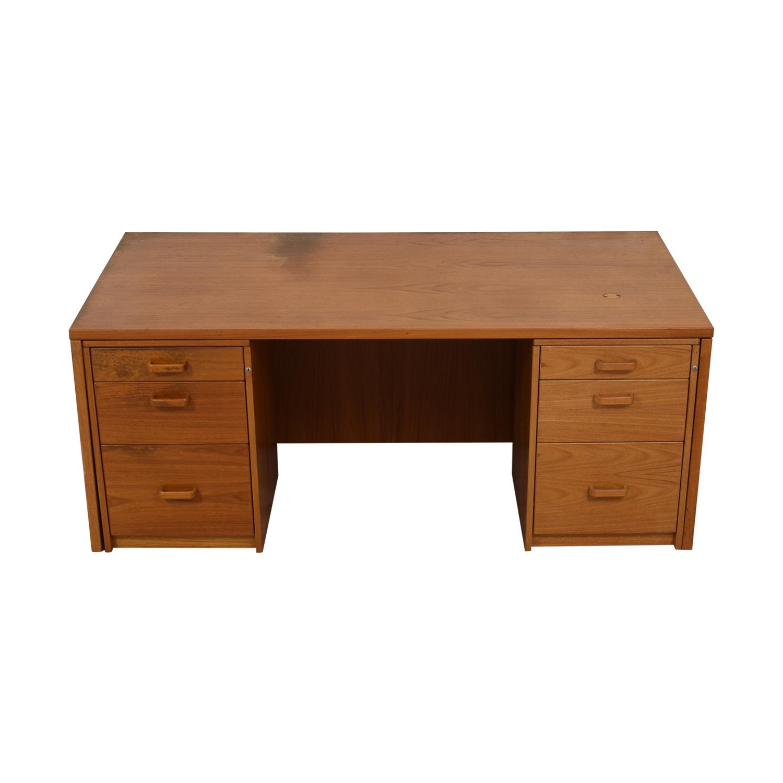 shop  Six Drawer Teak Desk online