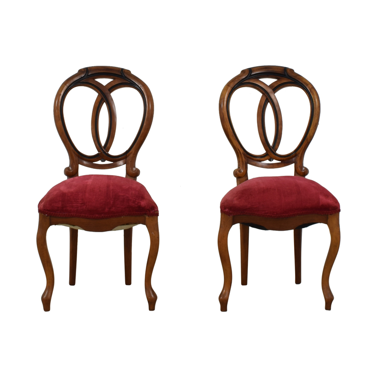 Antique Red Upholstered Chairs coupon