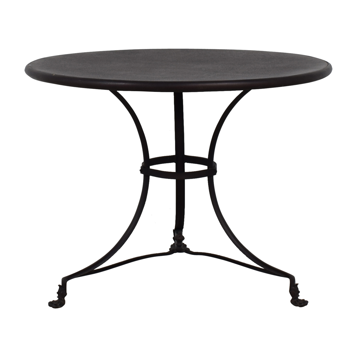Restoration Hardware Restoration Hardware Round Wood Dining Table second hand