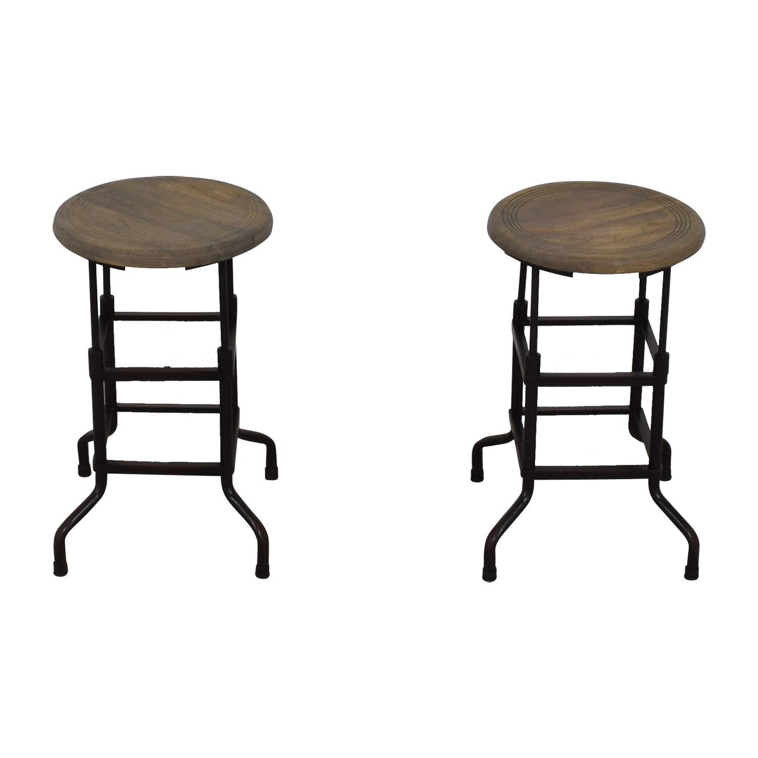 Restoration Hardware Restoration Hardware 1920s American Factory Stools for sale