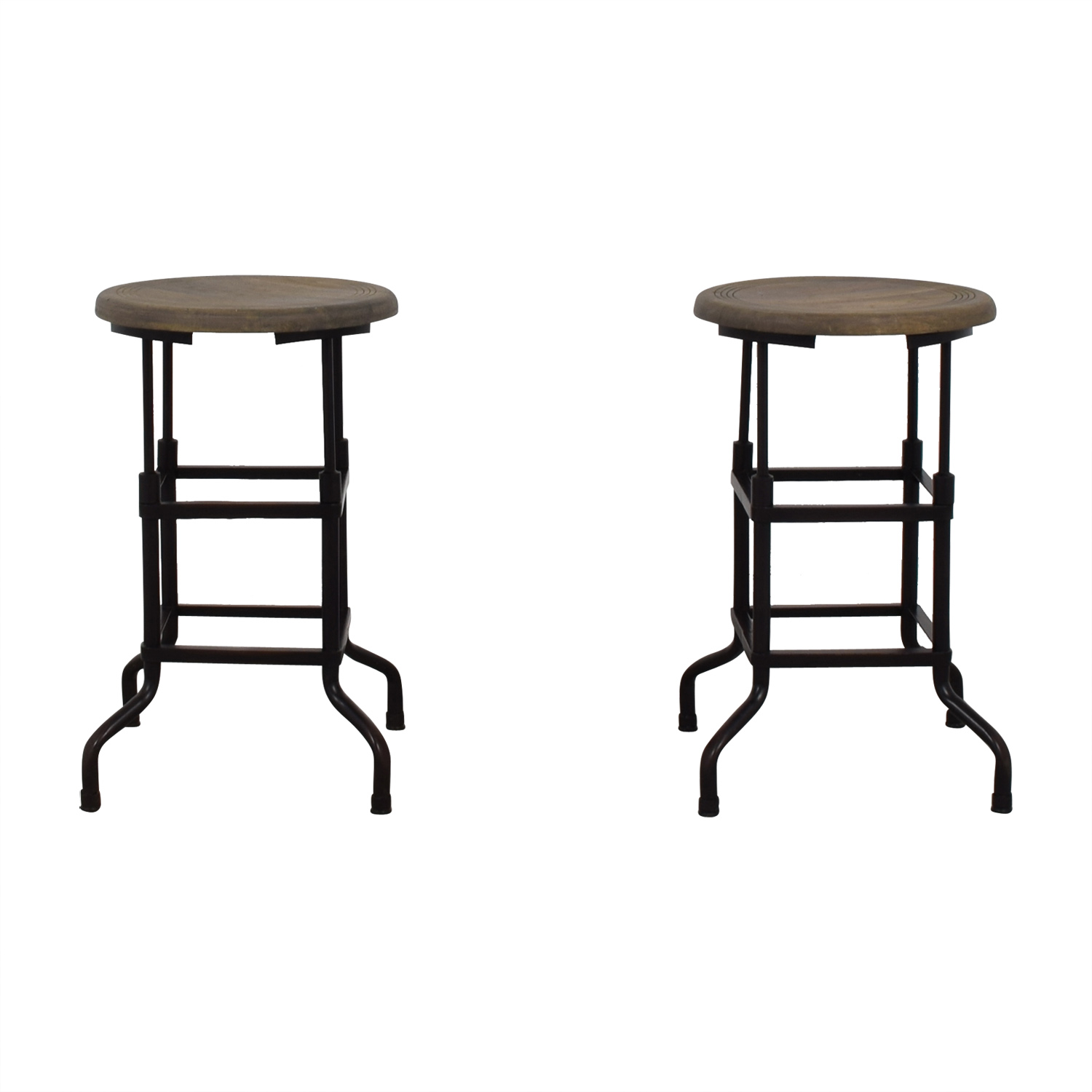 Restoration Hardware Restoration Hardware 1920s American Factory Stools dimensions