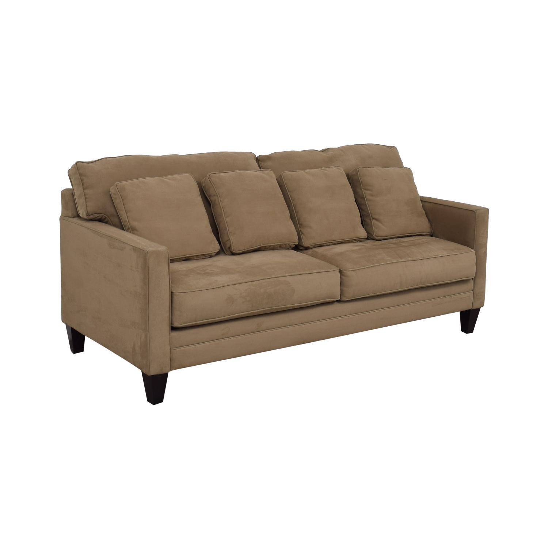 65 Off Bauhaus Bauhaus Beige Microfiber Two Cushion