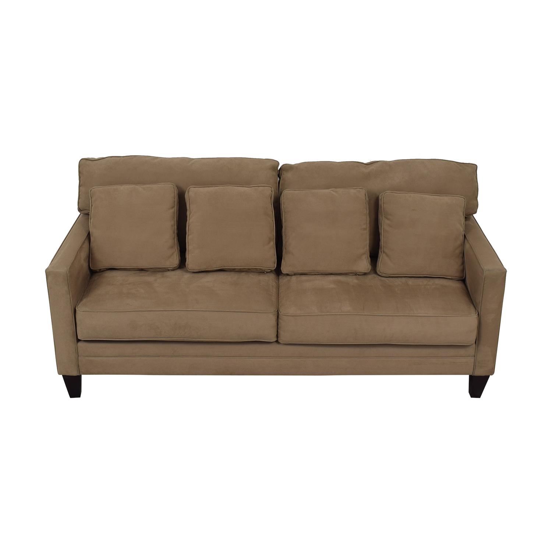 Bauhaus Bauhaus Beige Microfiber Two-Cushion Couch nj