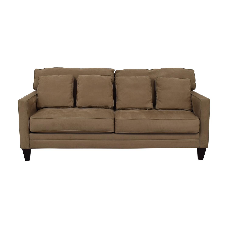Bauhaus Bauhaus Beige Microfiber Two-Cushion Couch used