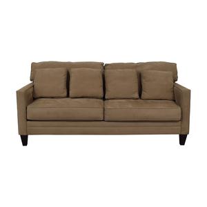 Bauhaus Furniture Bauhaus Beige Microfiber Two-Cushion Couch dimensions