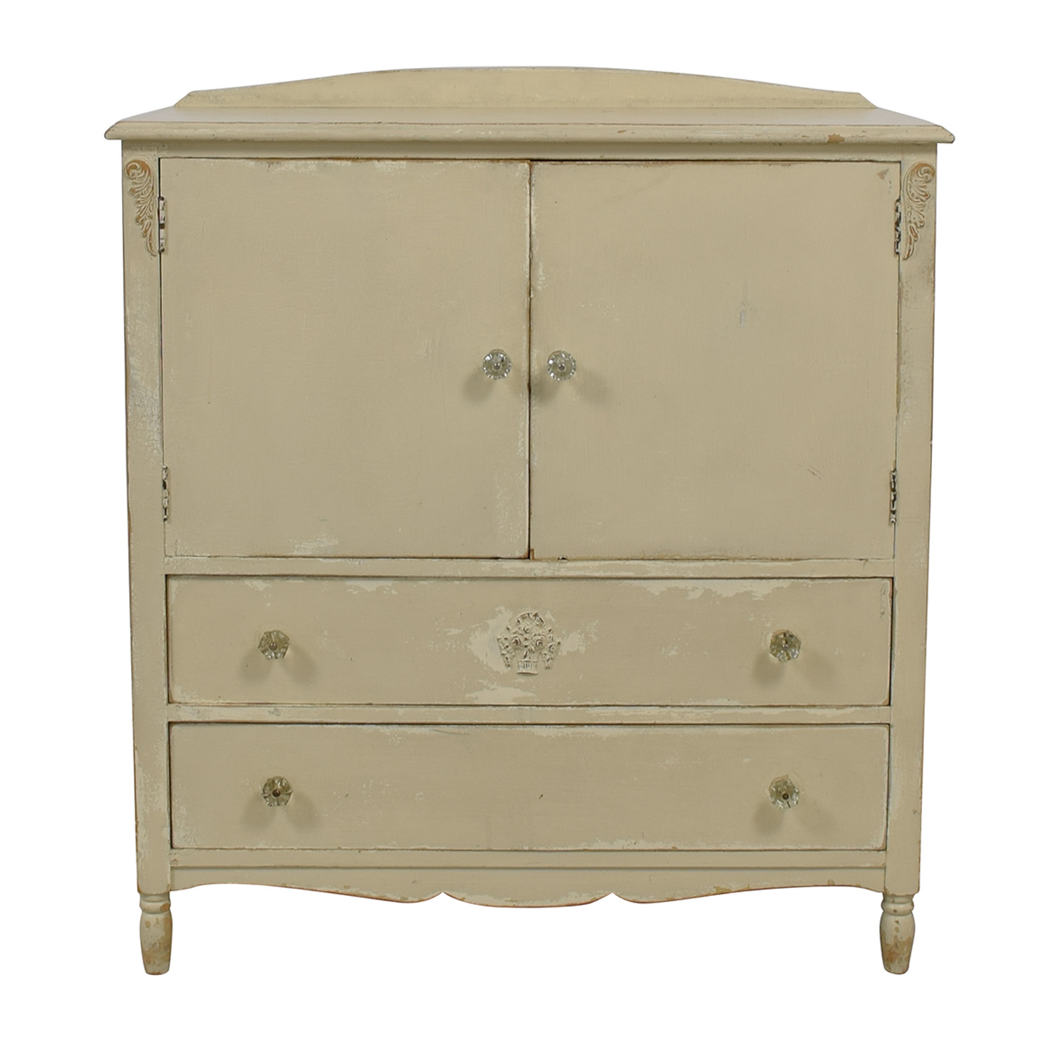 Shabby Chic Shabby Chic Vintage Grey Five-Drawer Dresser light grey