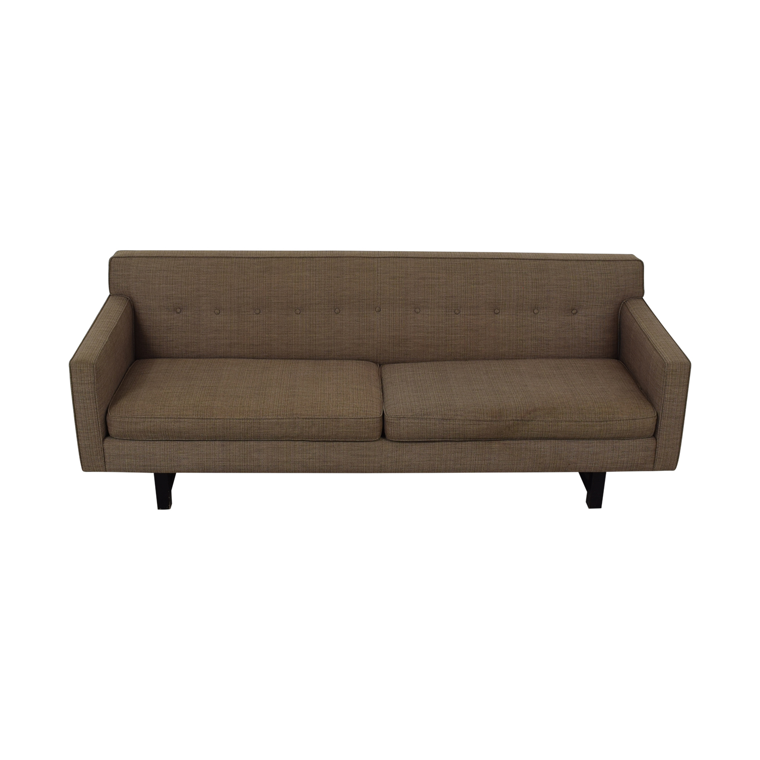 buy Room & Board Andre Tan Tufted Two-Cushion Sofa Room and Board