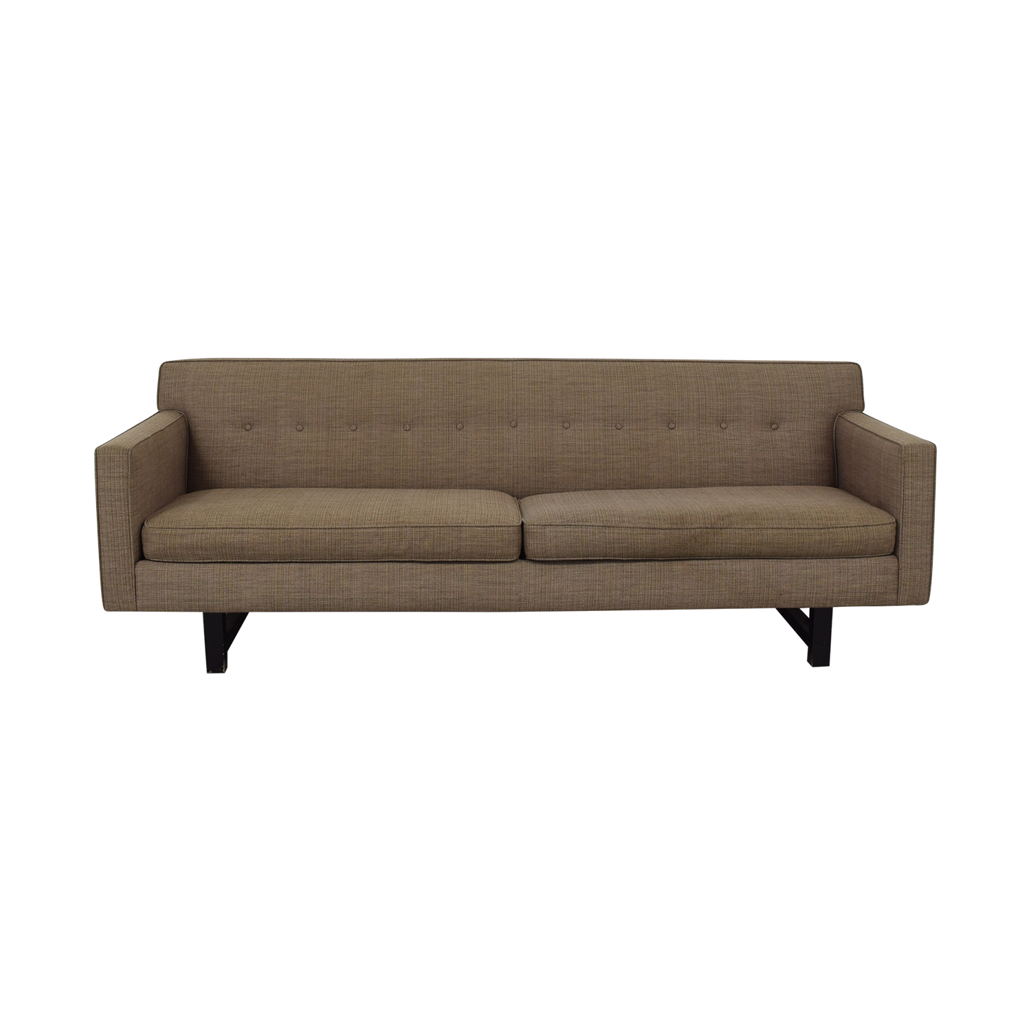 Room and Board Room & Board Andre Tan Tufted Two-Cushion Sofa for sale