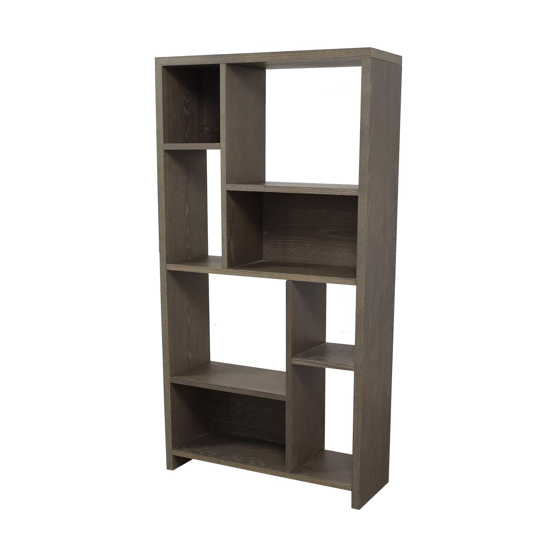 shop West Elm Asymmetrical Wood Bookcase West Elm Bookcases & Shelving
