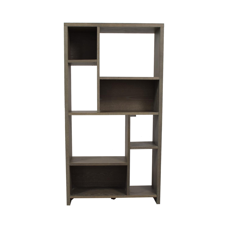 West Elm West Elm Asymmetrical Wood Bookcase nyc
