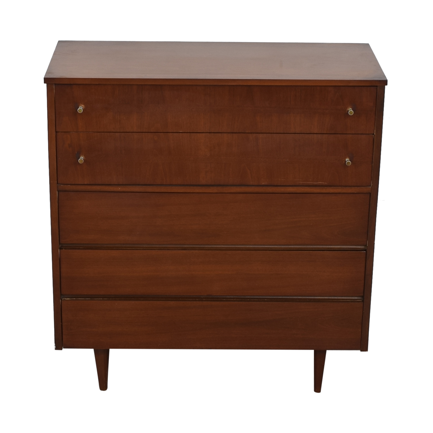 buy Mid Century Five-Drawer Tall Dresser  Storage