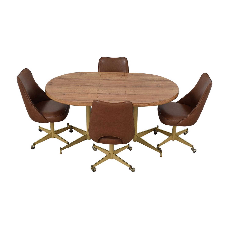 buy Mid-Century Oval Dining Set