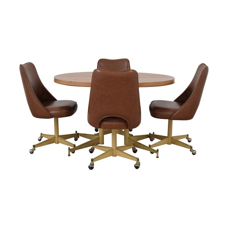 Mid-Century Oval Dining Set used