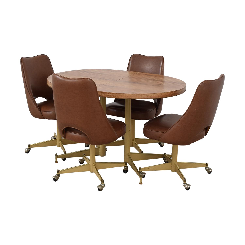 shop Mid-Century Oval Dining Set