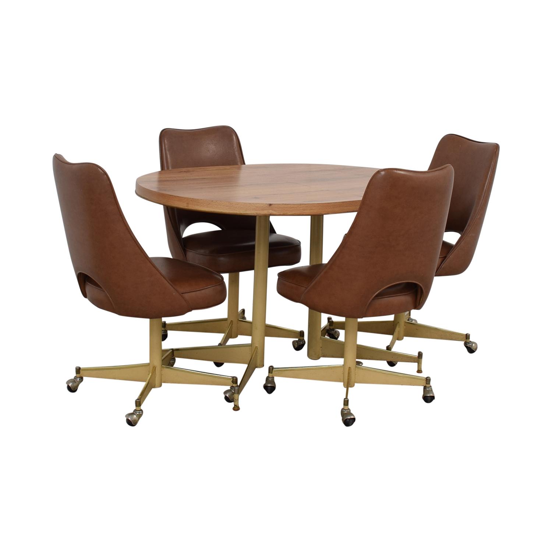 buy  Mid-Century Oval Dining Set online
