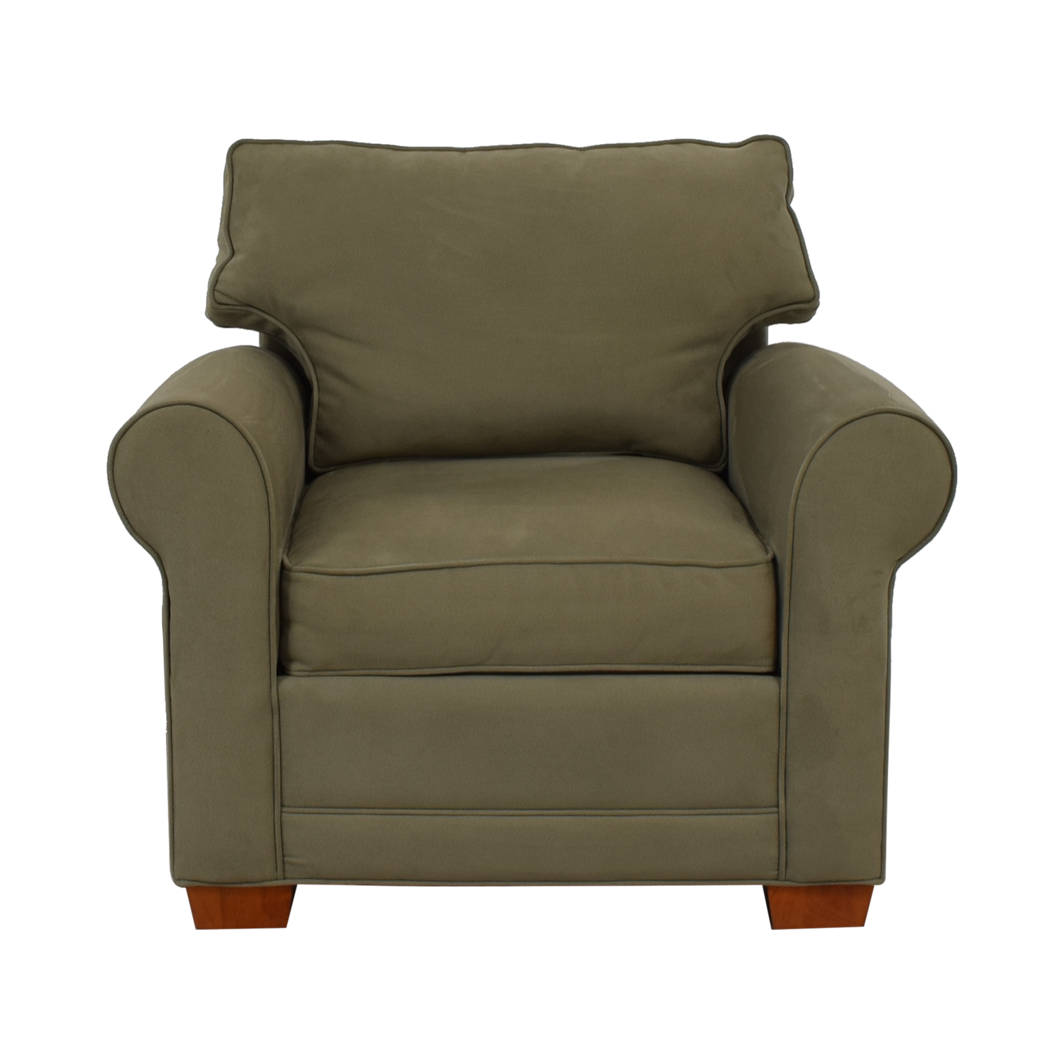 Raymour & Flanigan Raymour & Flanigan Olive Green Accent Chair for sale