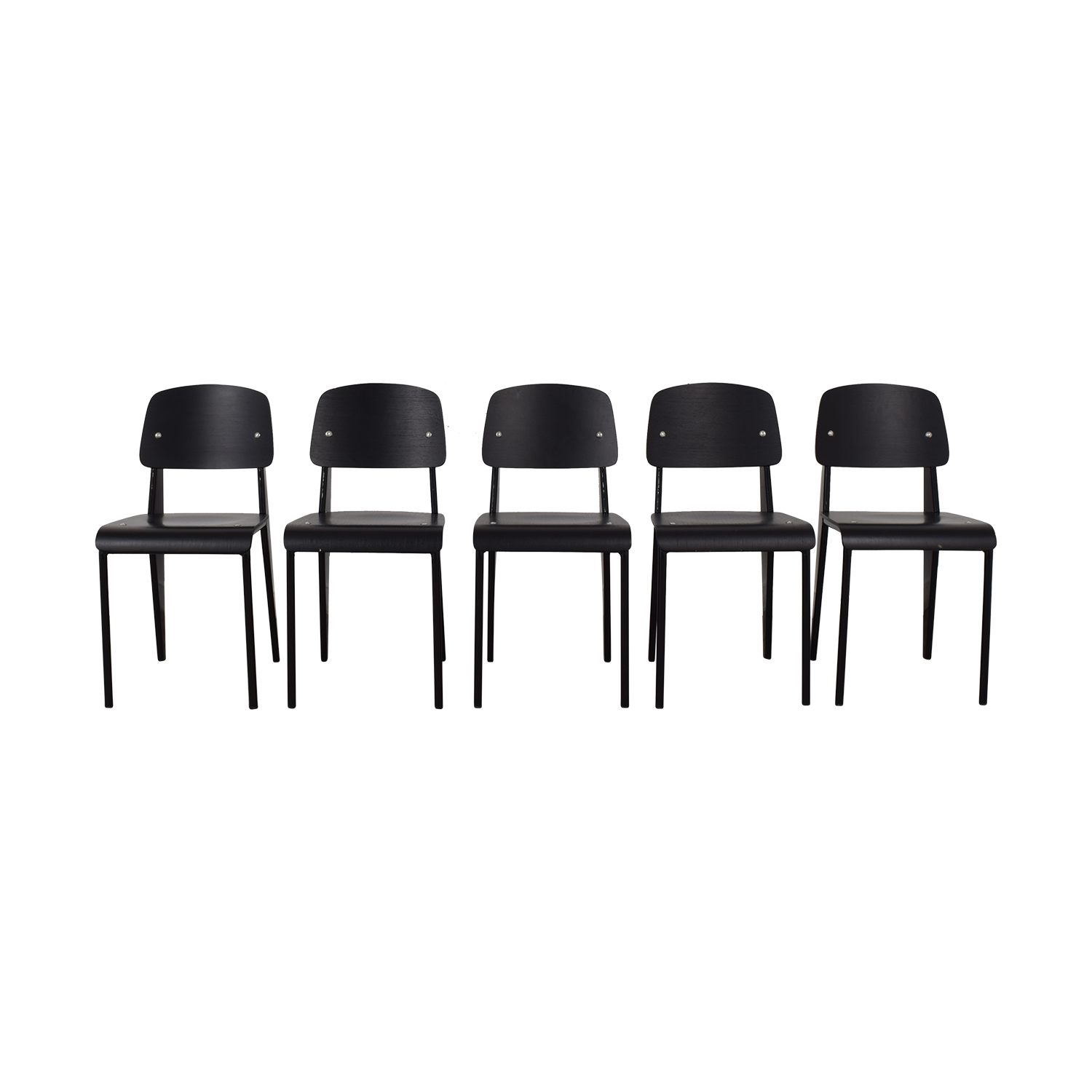 Reproduction Prouve Black Chairs discount