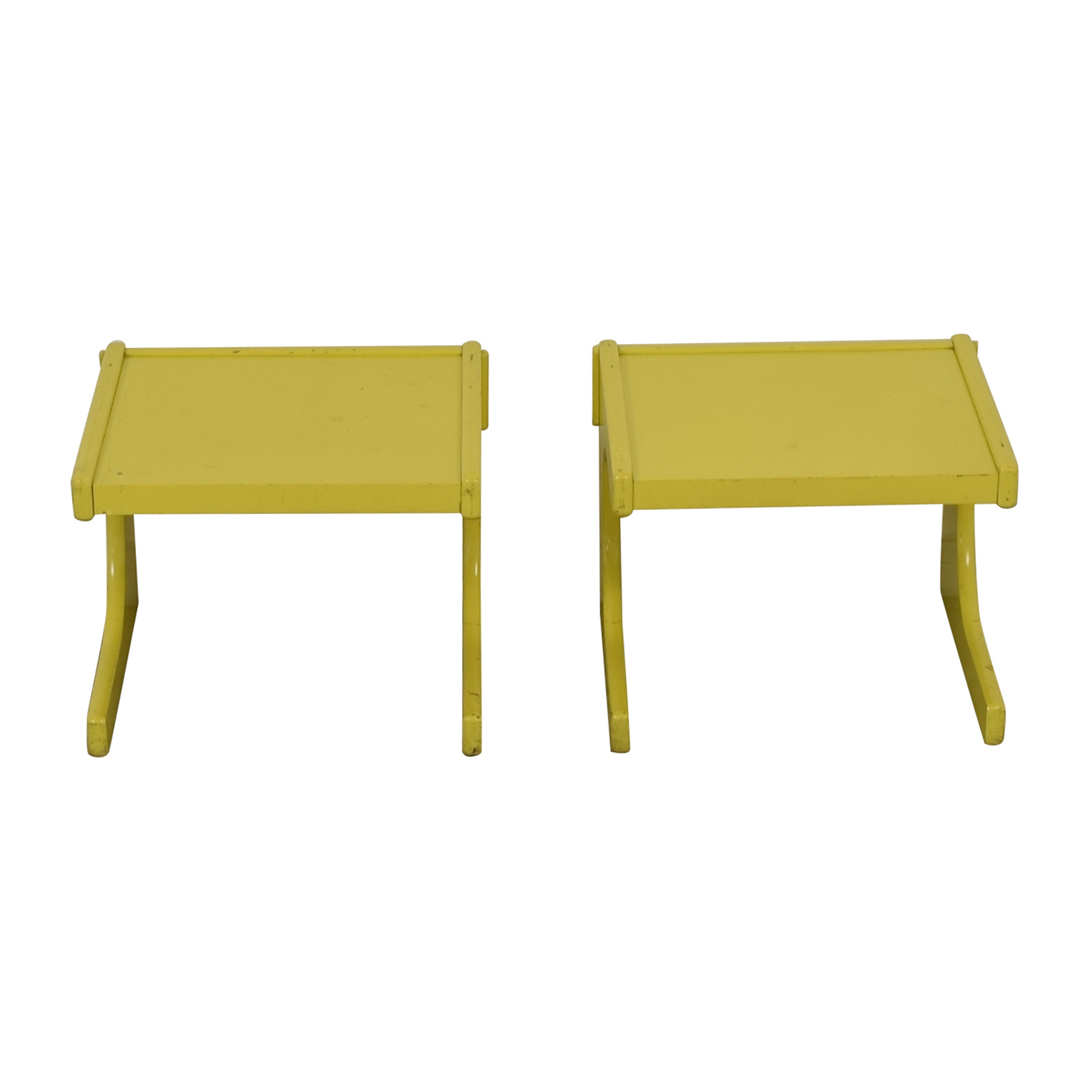 Lane Lane Mid-Century Yellow Side Tables Sofas