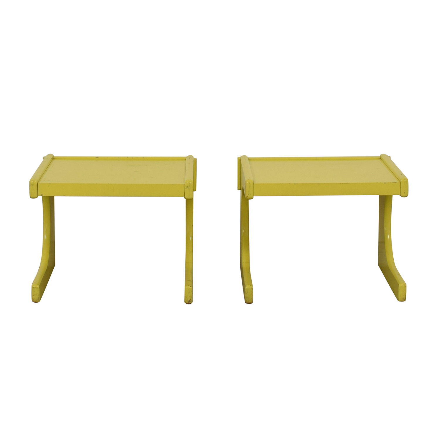 shop Lane Mid-Century Yellow Side Tables Lane Sofas