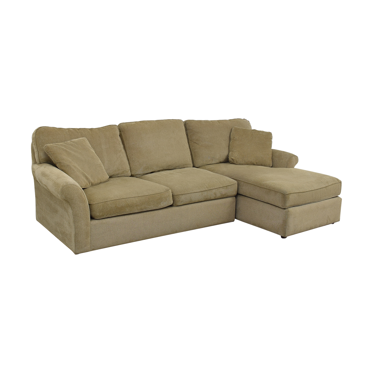 Macy's Macy's Beige Chaise Sectional nyc
