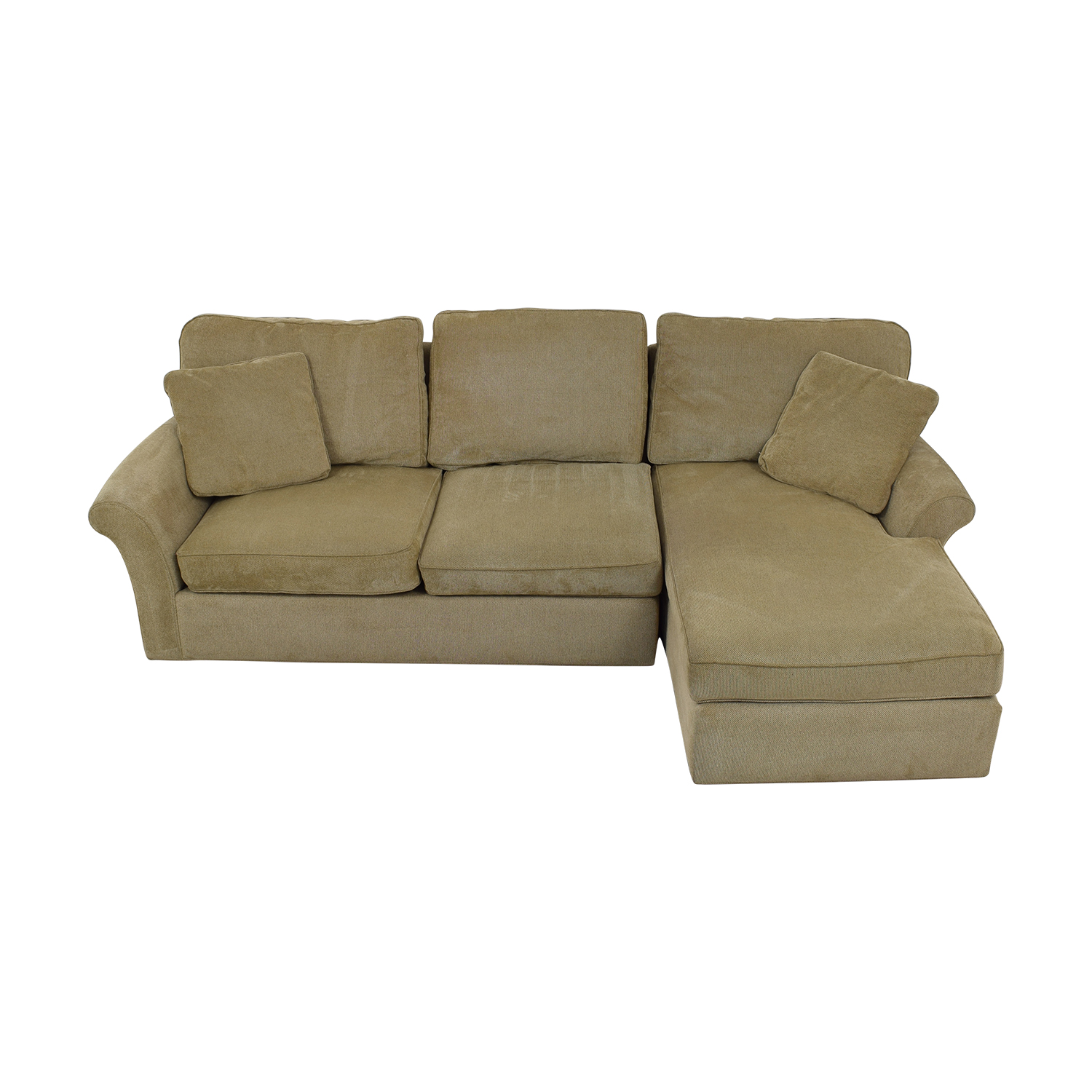 63 Off Macy S Macy S Beige Chaise Sectional Sofas