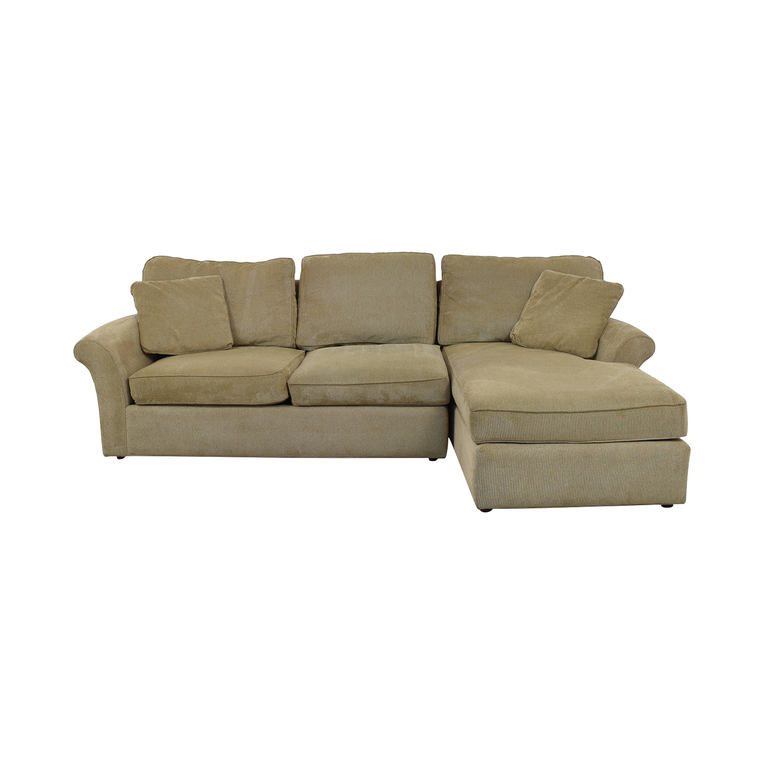 Macy's Macy's Beige Chaise Sectional nj
