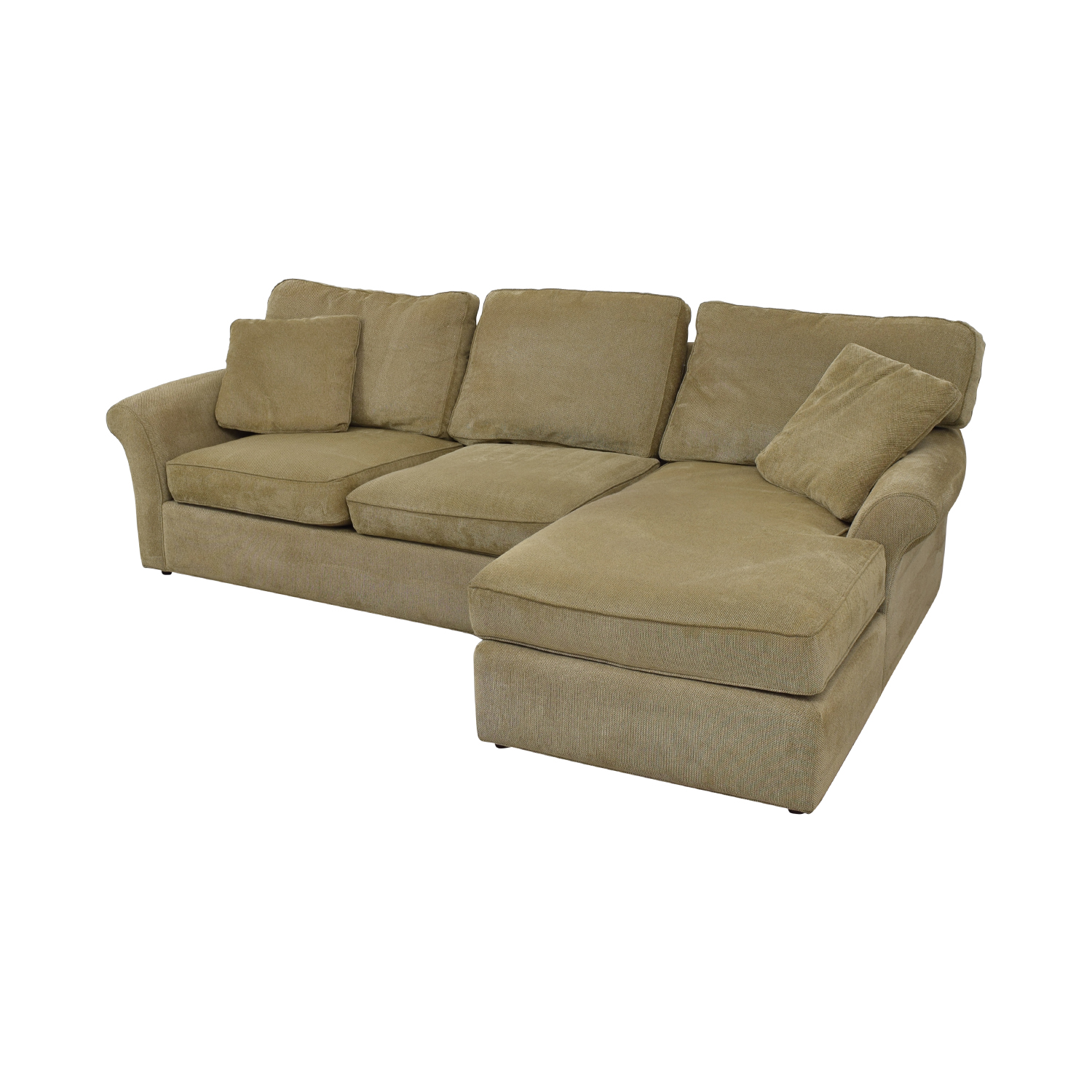 Macy's Macy's Beige Chaise Sectional dimensions
