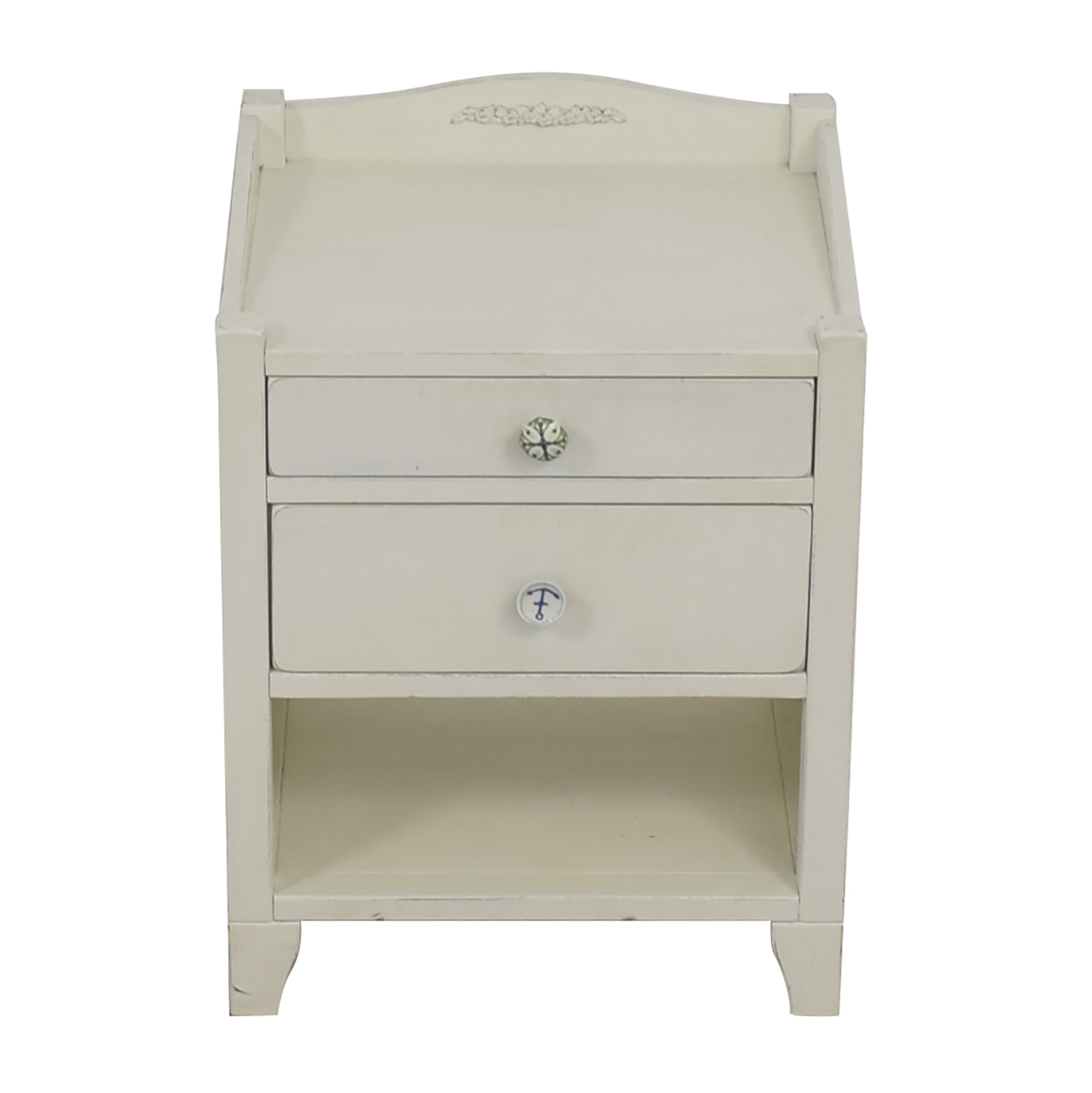 buy Pottery Barn White Two-Drawer Side Table Pottery Barn Sofas
