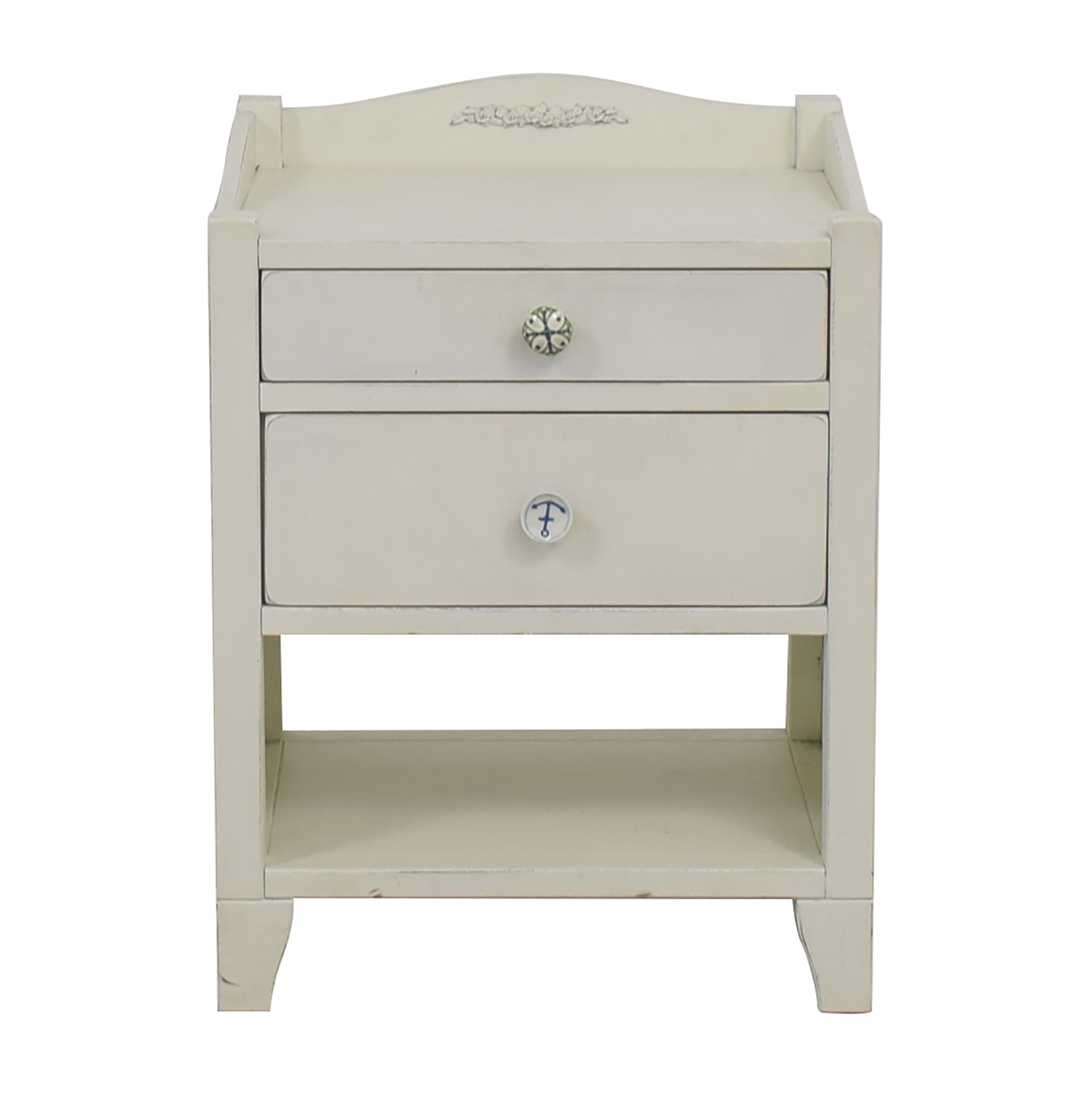 Pottery Barn Pottery Barn White Two-Drawer Side Table Sofas