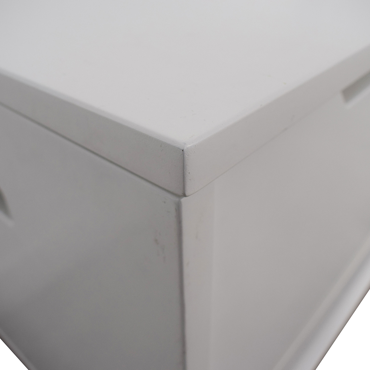 Land of Nod Land of Nod White Two-Drawer Storage Bench on sale