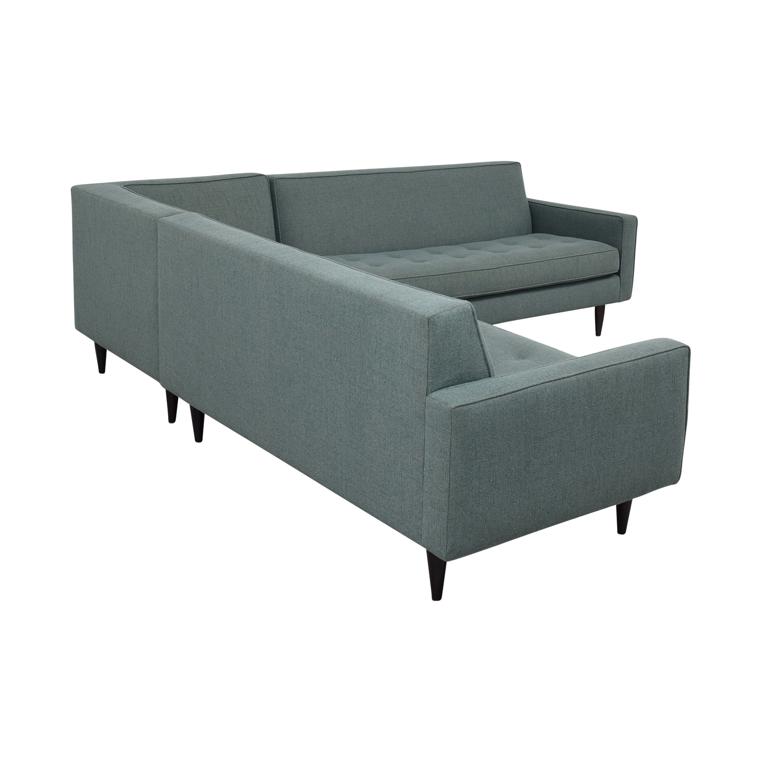 shop Room & Board Reese Tactum Teal Sectional Room & Board Sectionals