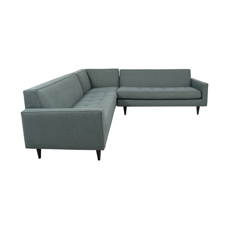 Room & Board Reese Tactum Teal Sectional Room & Board