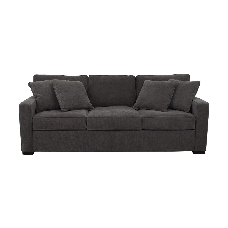 Macy's Macy's Radley Grey Three-Cushion Sofa second hand