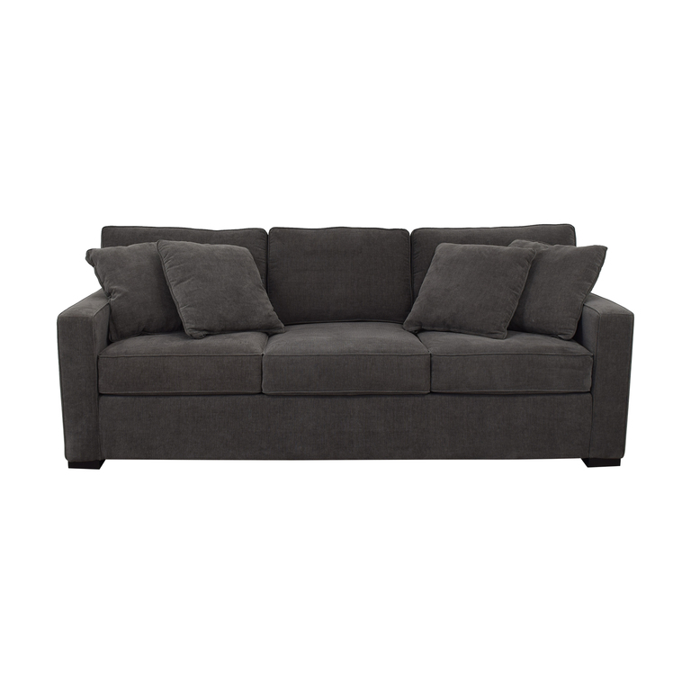Macy's Macy's Radley Grey Three-Cushion Sofa nj