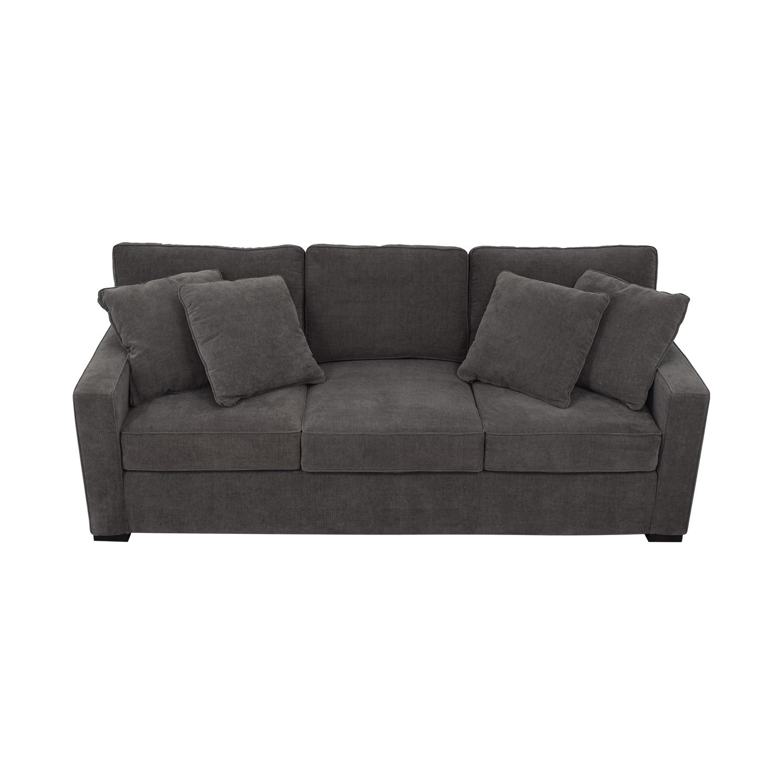 Macy's Macy's Radley Grey Three-Cushion Sofa used