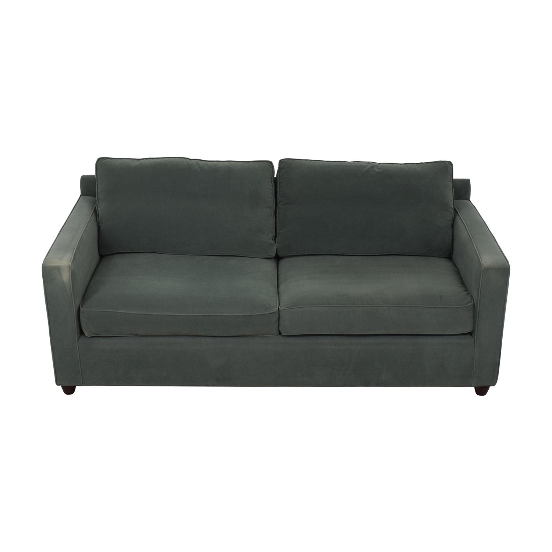 buy Crate & Barrel Crate & Barrel Green Two-Cushion Sofa online