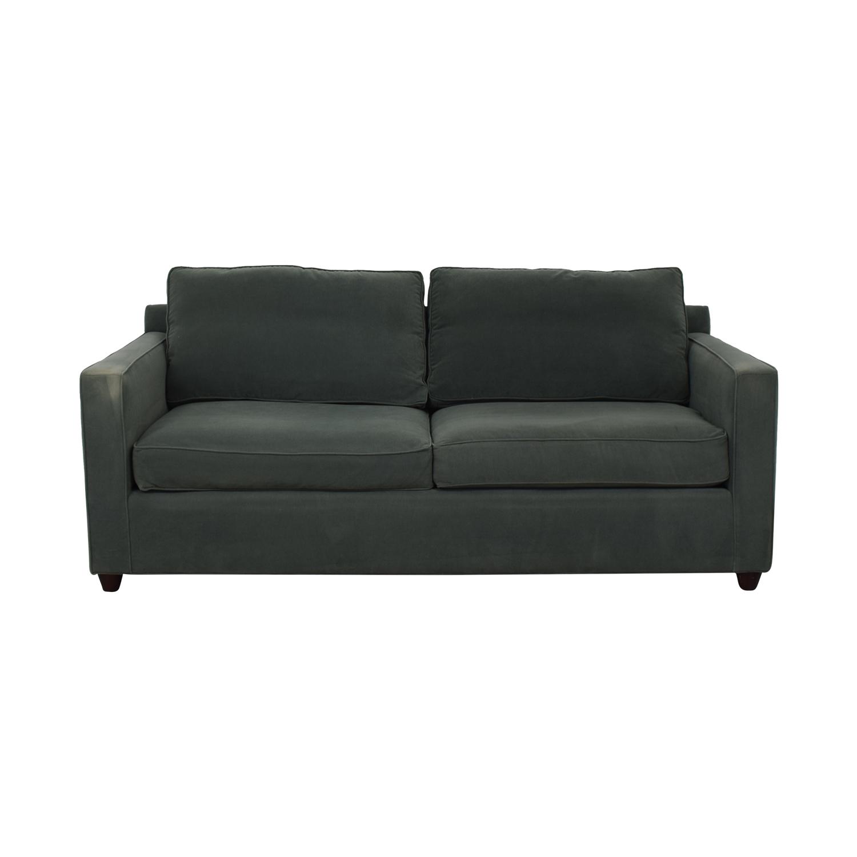 buy Crate & Barrel Green Two-Cushion Sofa Crate & Barrel Classic Sofas
