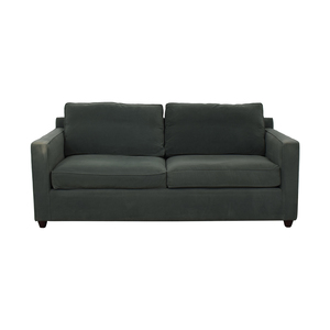Crate & Barrel Crate & Barrel Green Two-Cushion Sofa coupon