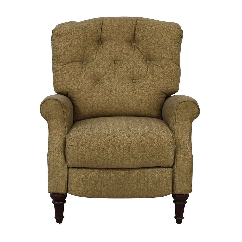 shop Lane Furniture Beige Tufted Recliner Lane Furniture