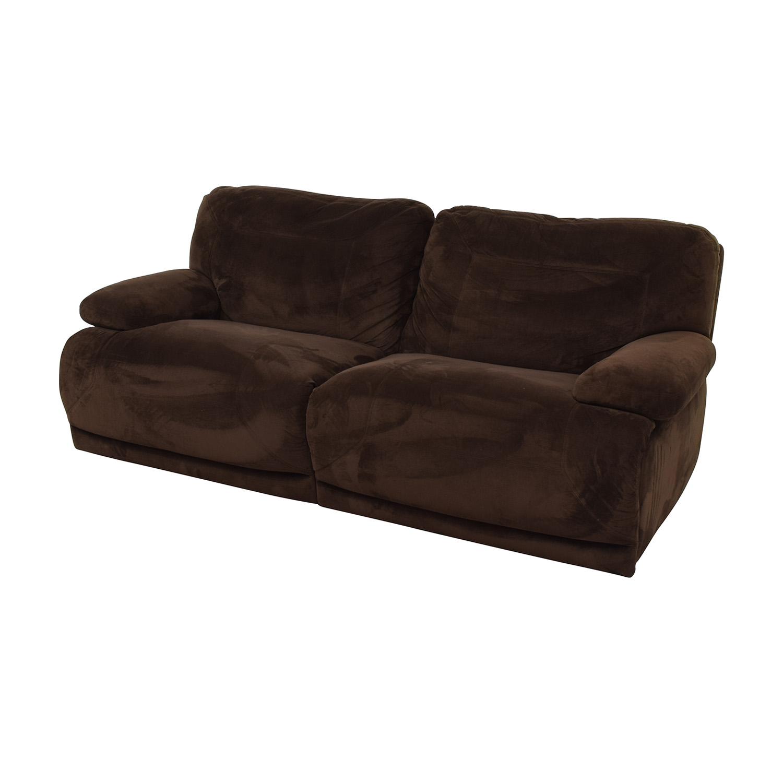Macy's Macy's Brown Recliner Couch Brown