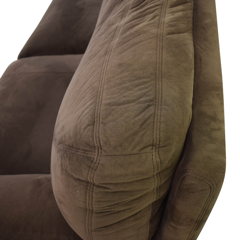 shop Macy's Brown Recliner Couch Macy's Loveseats