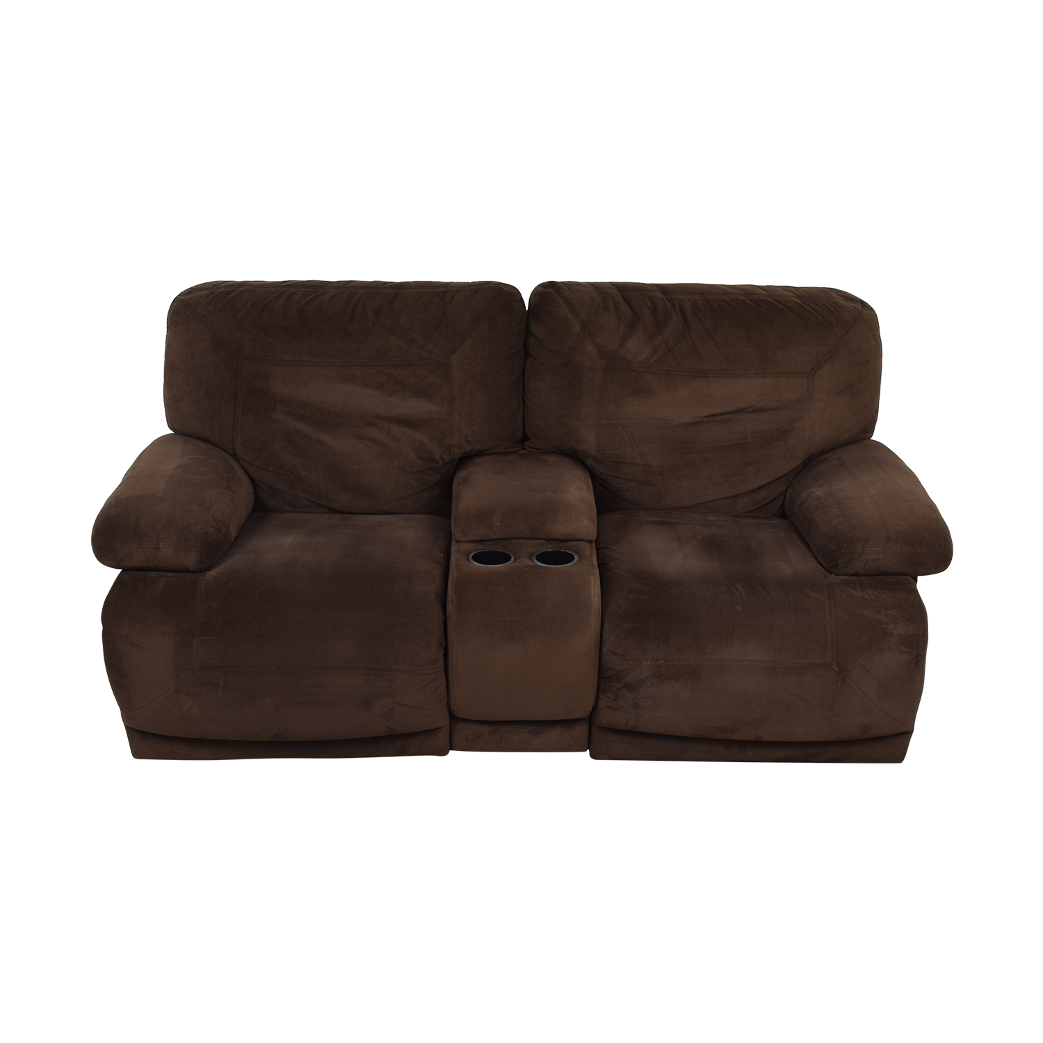 Macy's Brown Reclining Loveseat / Sofas