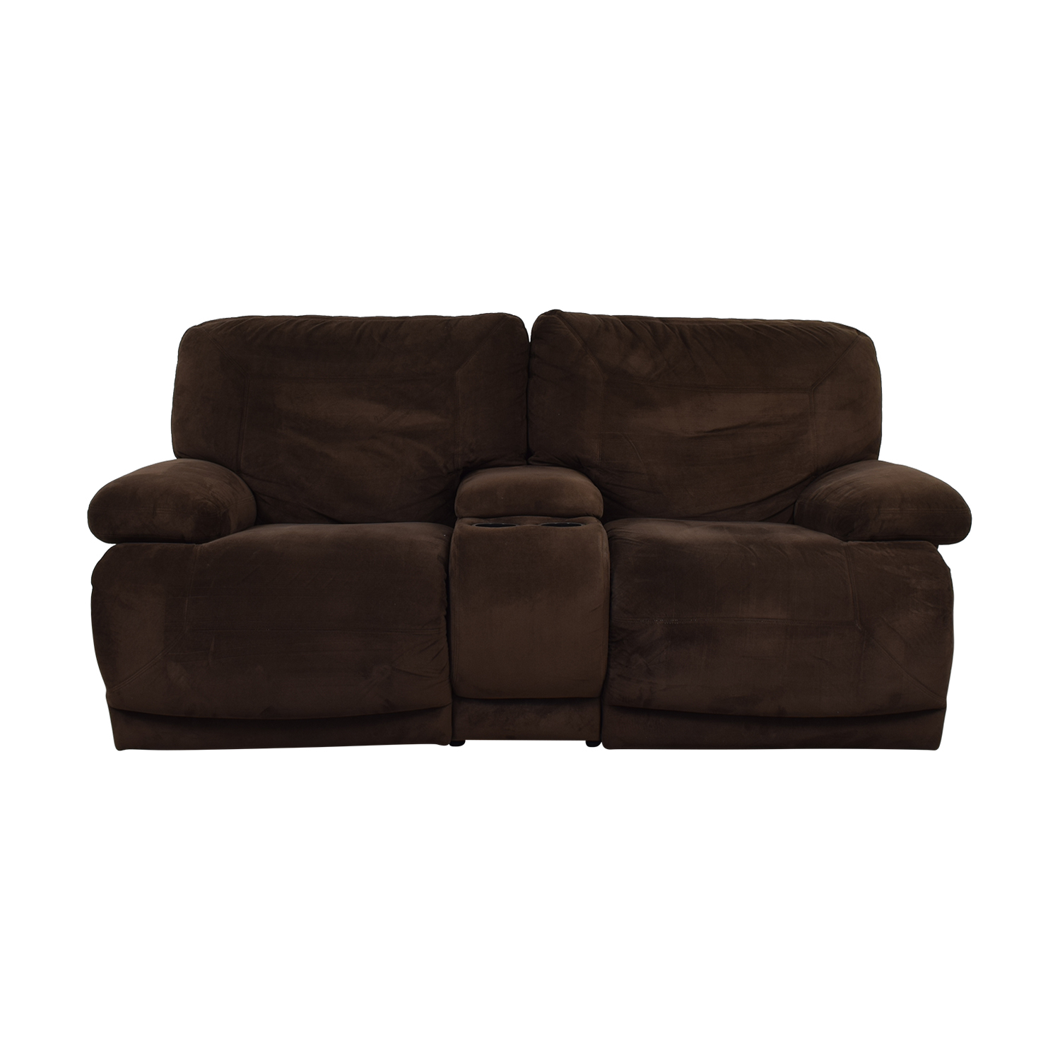 low priced 84901 227d4 73% OFF - Macy's Macy's Brown Reclining Loveseat / Sofas